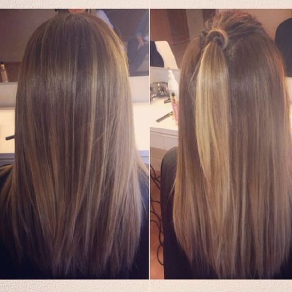Natural Looking Balayage Brown Hair