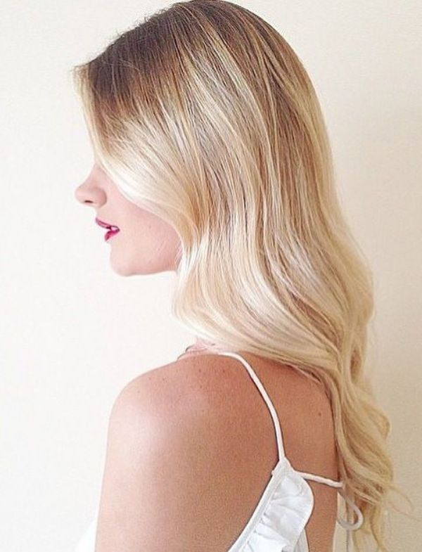 Butter Blonde Balayage Straight Hairstyle