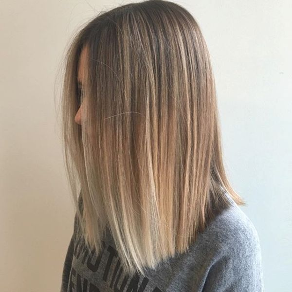 Balayage Straight Hair Brunette