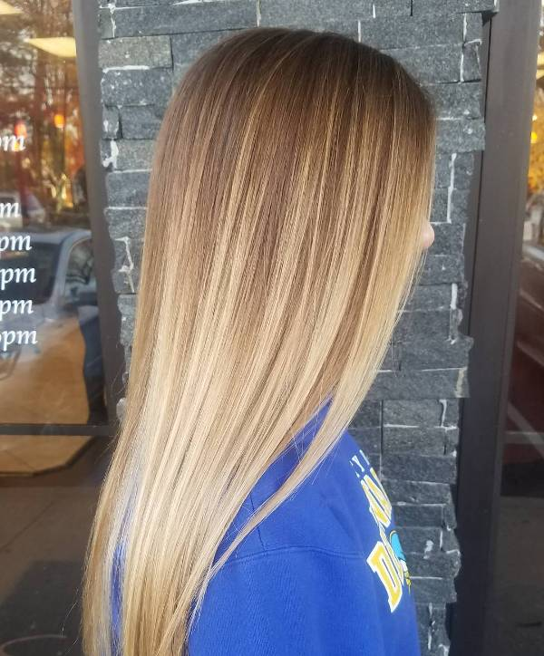 Caramel and Beige-Blonde Balayage