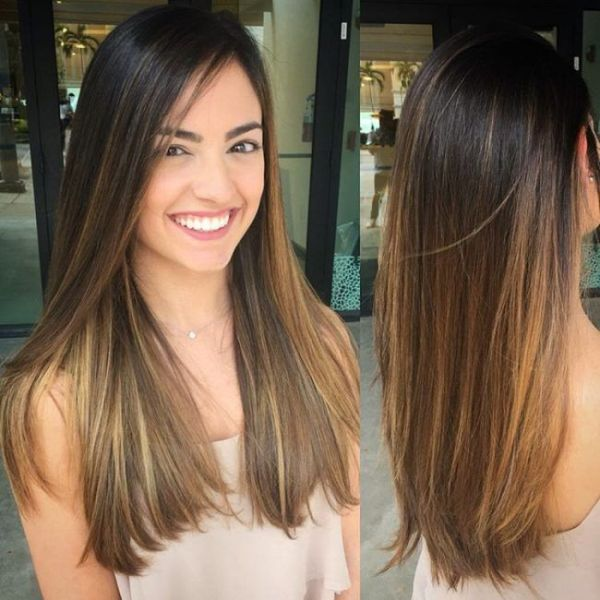 Easy Balayage Straight Hair