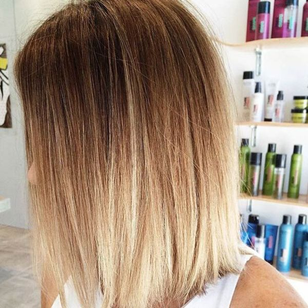 4 Blonde Blond Straight Hair Sweep Blonde Balayage: 50 Best Balayage Straight Hairstyles