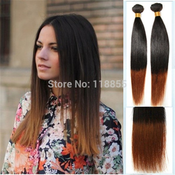 Ombre Straight Hair Weave