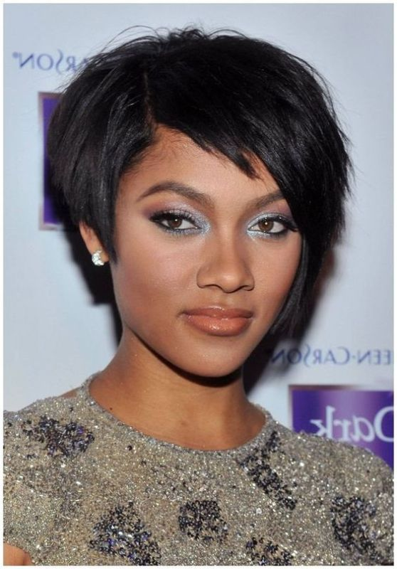 35 Best Short Black Haircuts for Round Faces – 2018 ...