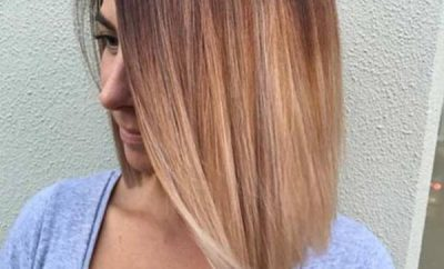 Sunset Balayage on Straight Bob Haircut
