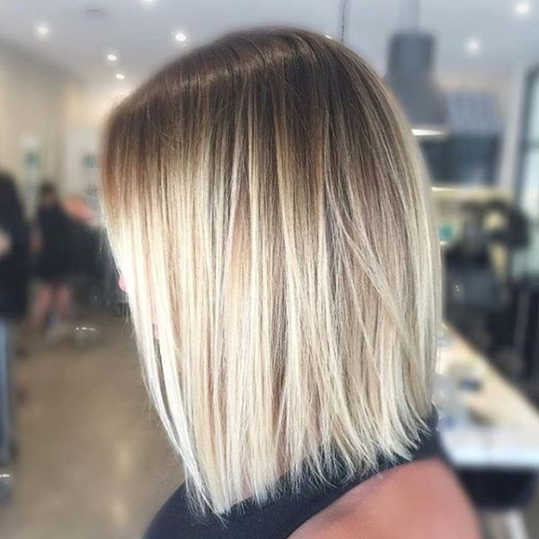 balayage straight hair shoulder length