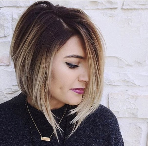 Balayage Ombre On Short Haircut