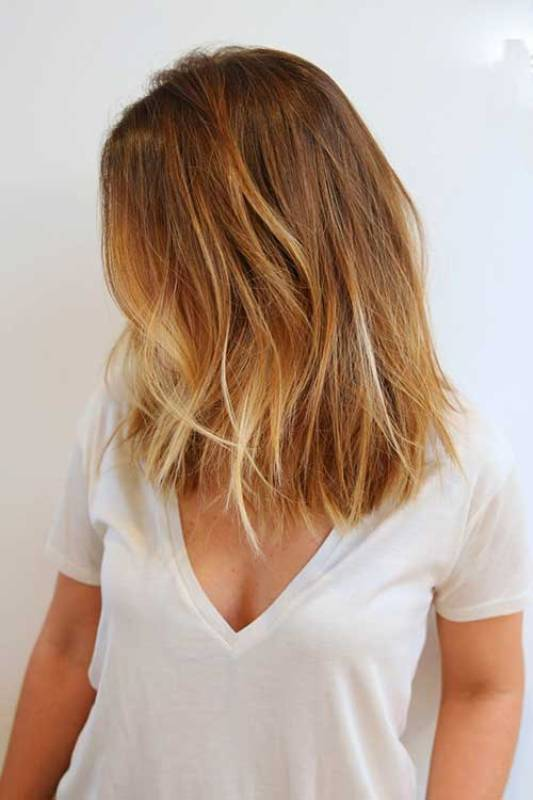Balayage Thin Short Bob Hair