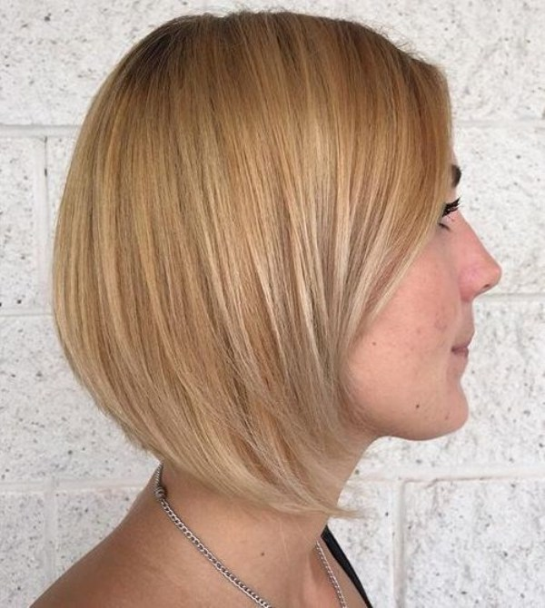 Blonde Balayage Short bob with babylights