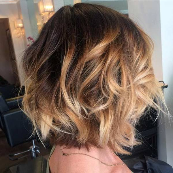 Blonde Balayage and messy beach waves