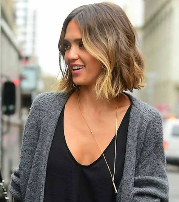 Blonde Balayage for Short Bob Haircut