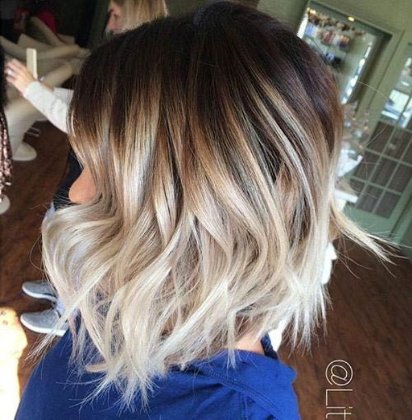 Shattered Bob Balayage Short Hairstyle