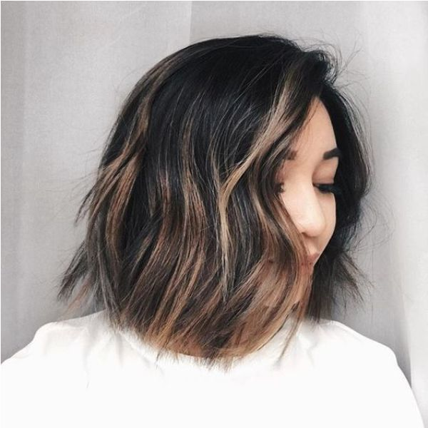 Short black balayage hair