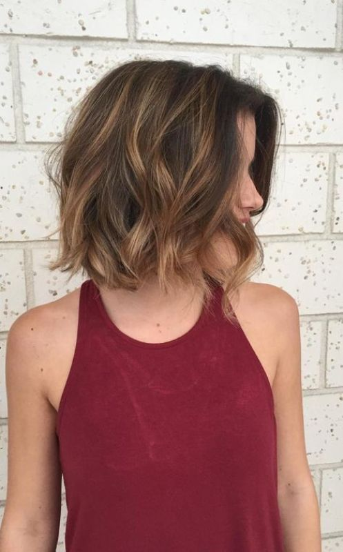 Stunning Brunette Balayage on short hair