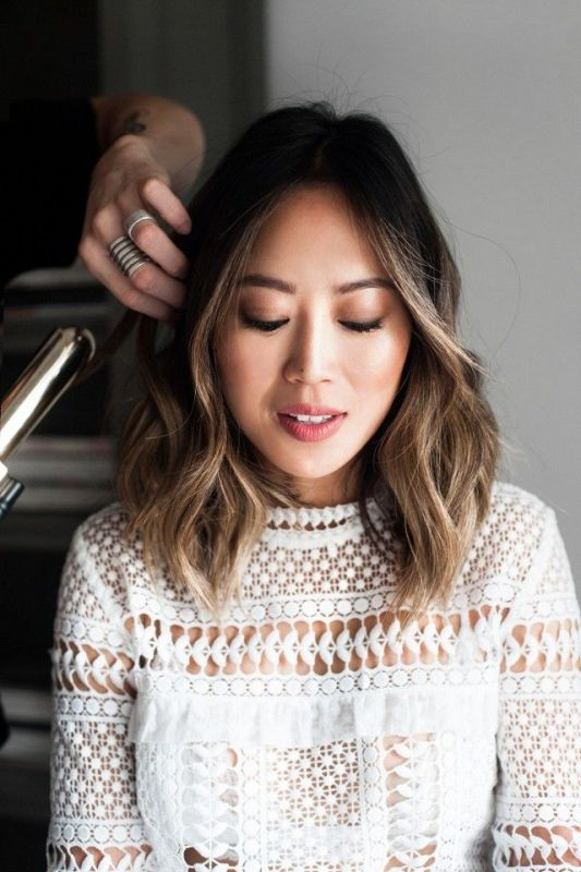 short balayage hair asian