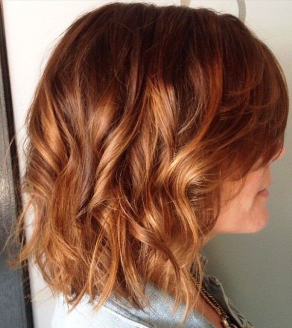 short balayage hair brunette