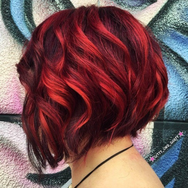 short red balayage hair