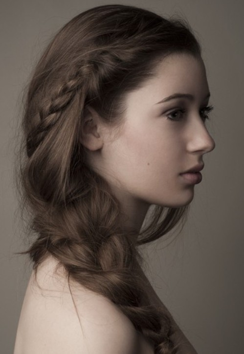 Messy side Braid