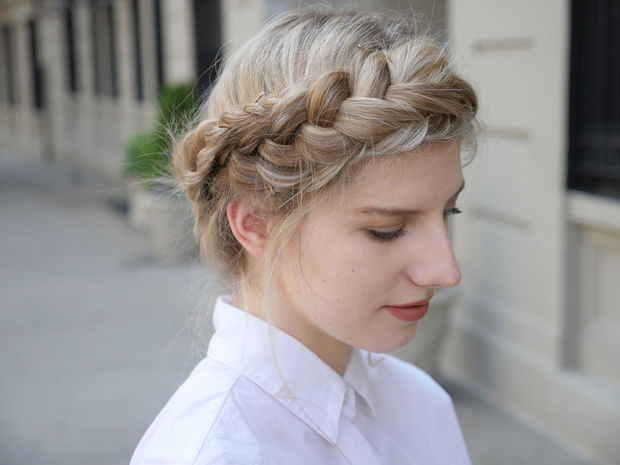 crown braid with rope twist