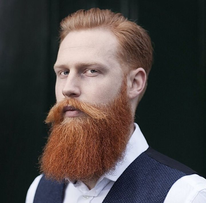 Outgrown Ginger Beard Style