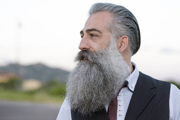 Two Tone Long Beard Styles
