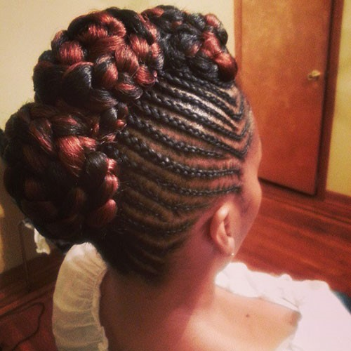 Black-Braided-Mohawk-Hairstyle-With-High-Bun