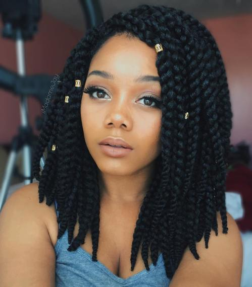 10 Cute Medium Braided Hairstyles For Black Women Cruckers