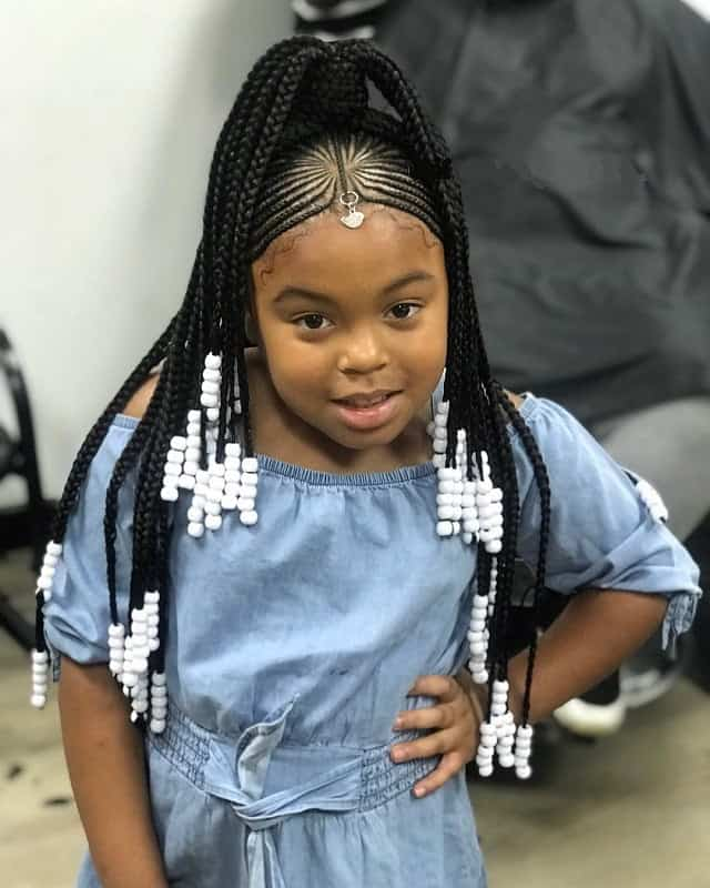 10 Best Braided Hairstyles For Kids With Beads , CRUCKERS
