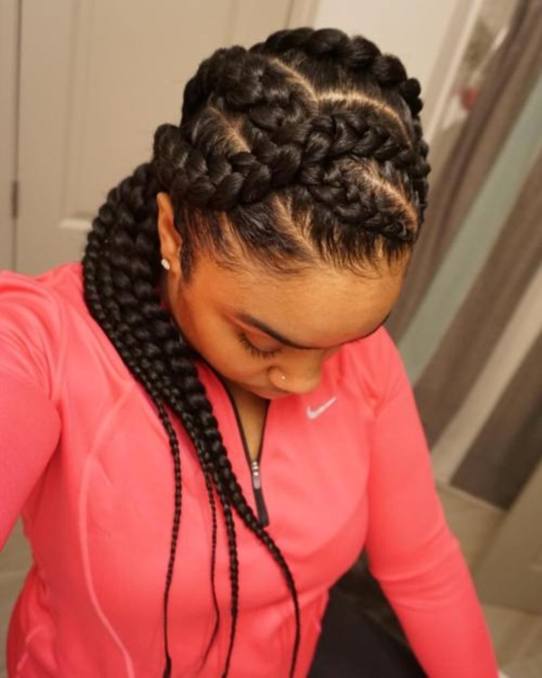 Black Cornrow Braided Hairstyles