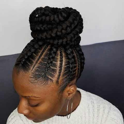 Cornrow Braided Updo Hairstyles